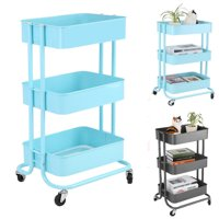 3-Tier Utility Service Cart Rolling Storage Shelves,Storage Rack Trolley Cart,Storage Utility Cart
