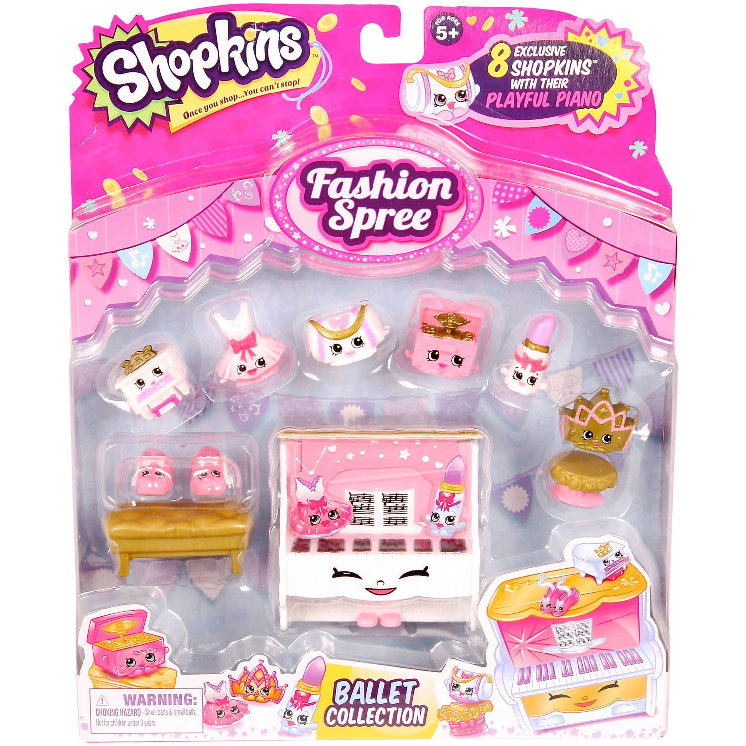 Moose Toys Shopkins Season 3 Fashion Spree Themed Pack Ballet Collection