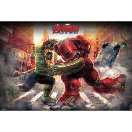 Mural avengers 2 hulk poster print for Avengers mural poster