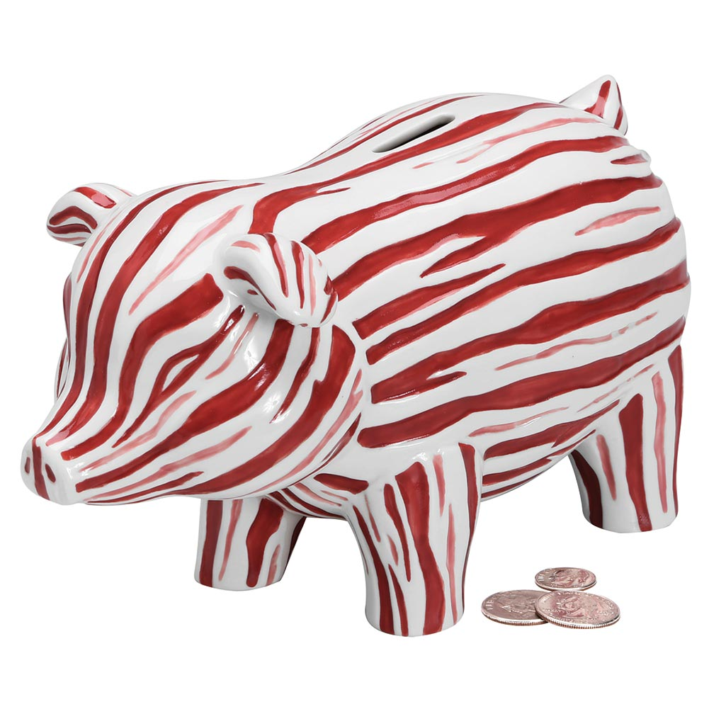Bacon Piggy Bank - Hand Painted Porcelain - Exclusive From What On Earth
