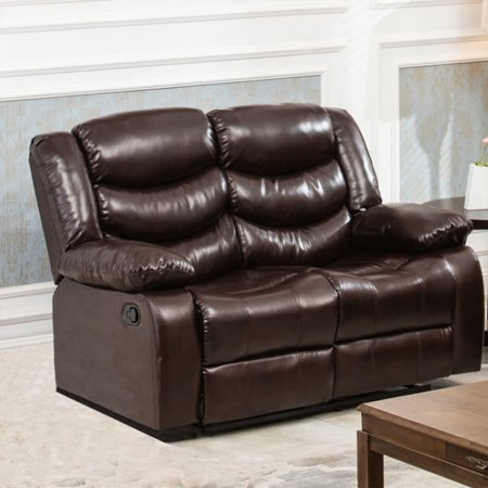 Fine Winslow Rustic Dark Brown Pu Leather Recliner Loveseat Onthecornerstone Fun Painted Chair Ideas Images Onthecornerstoneorg