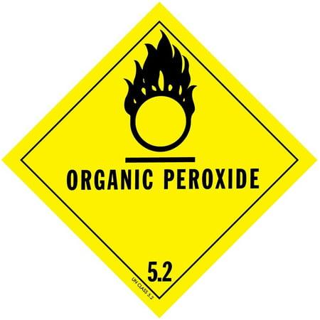 D.O.T. Organic Peroxide Labels 4