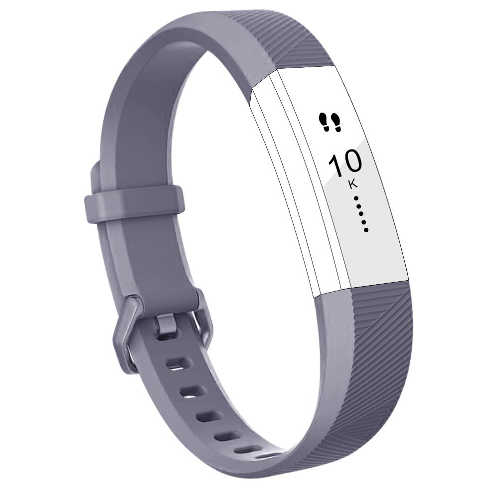 Fitbit Alta HR Band Bands Replacment Accessory Small Large Silicone 10 Pack, Large