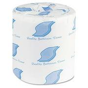 GEN GN500 Bath Tissue, 2-Ply, 500 Sheets/Roll, White, 96 Rolls/Carton