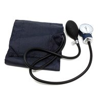 MABIS Precision Series Aneroid Sphygmomanometer Manual Blood Pressure Monitor with Calibrated Blue Nylon Cuff and Carrying Case, Large Adult