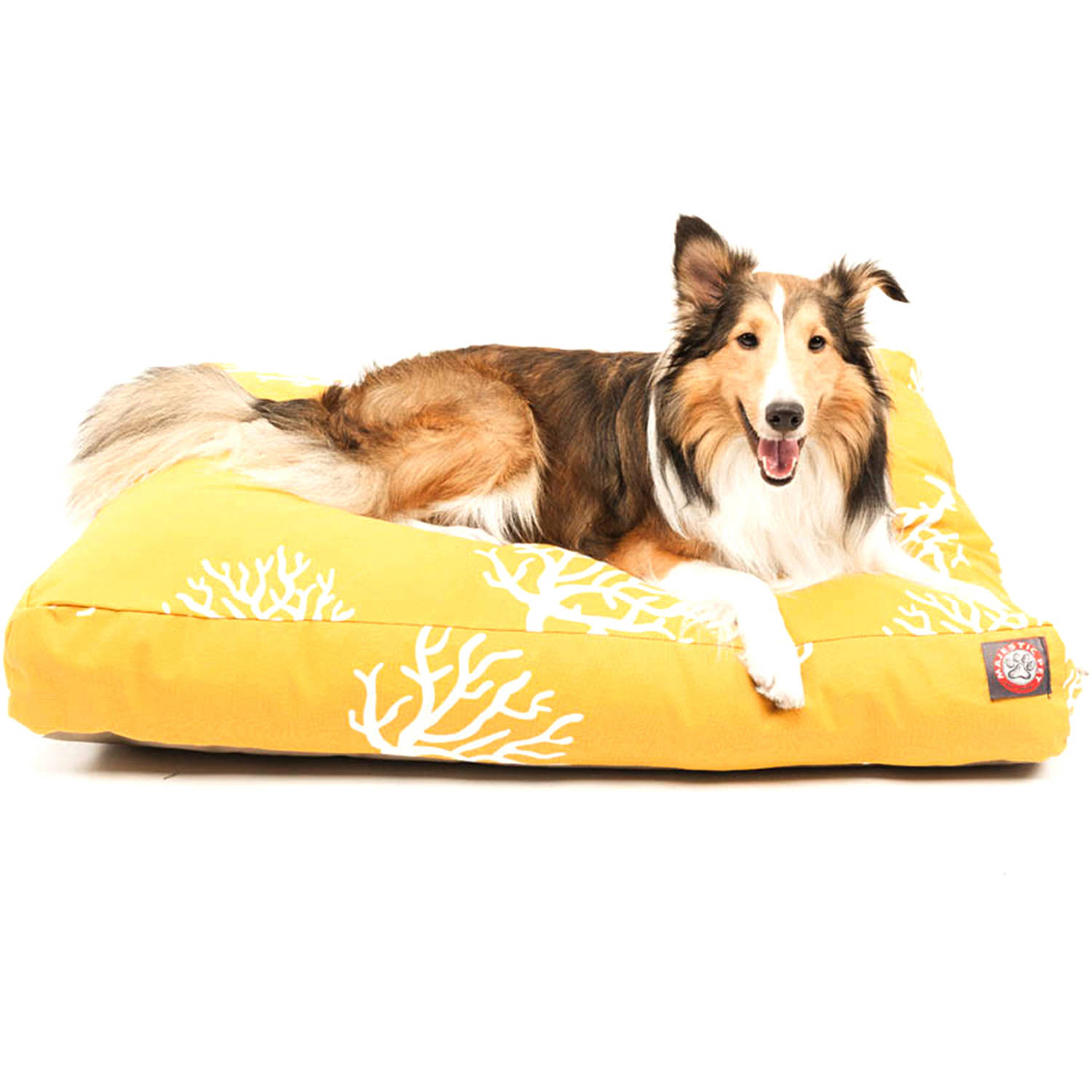 Majestic Pet Coral Rectangle Outdoor Indoor Pet Bed Removable Cover