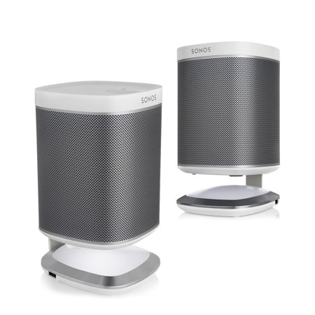 Sonos Play1 Wireless Music Players   Flexson Illuminated Stands White  Pair  Kit