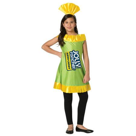 Green and Yellow Jolly Rancher Apple Children Halloween Costume