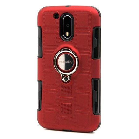 Motorola G4 Case, Moto G4 Plus Case, Maxessory Scout Thin Rigid Tough Protective Cover W/ Expanding Kickstand Ring Combo Impact-Guarding Reinforced Bumper