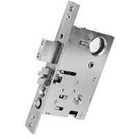 Baldwin 6800031RR Cylinder Backset Entrance Lock - Non-lacquered Brass - 1.5 in. - image 1 de 1