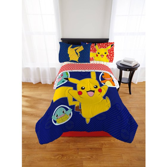 Pokemon Pika Pika Pikachu Kid's Bed In A Bag, Twin