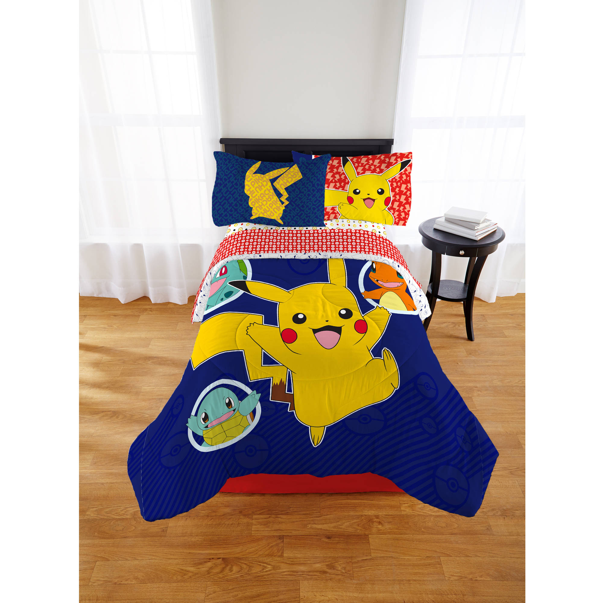 Pokemon Pika Pika Pikachu Kid's Bed in a Bag, Twin, Exclusive