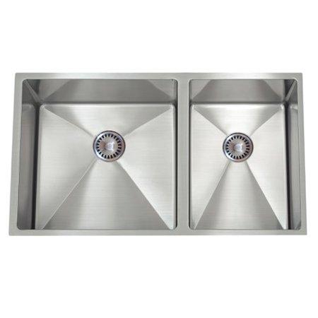 - Lenova 30'' L x 10'' W PermaClean Undermount Double Bowl Kitchen Sink