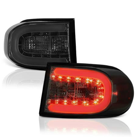 Fj Cruiser Off Road Lights (VIPMotoZ 2007-2015 Toyota FJ Cruiser Neon Tube Off-Road Smoke Lens Tail Lights, Driver & Passenger)