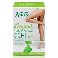 Nad's Natural Hair Removal Gel Wax Kit, 6 oz.