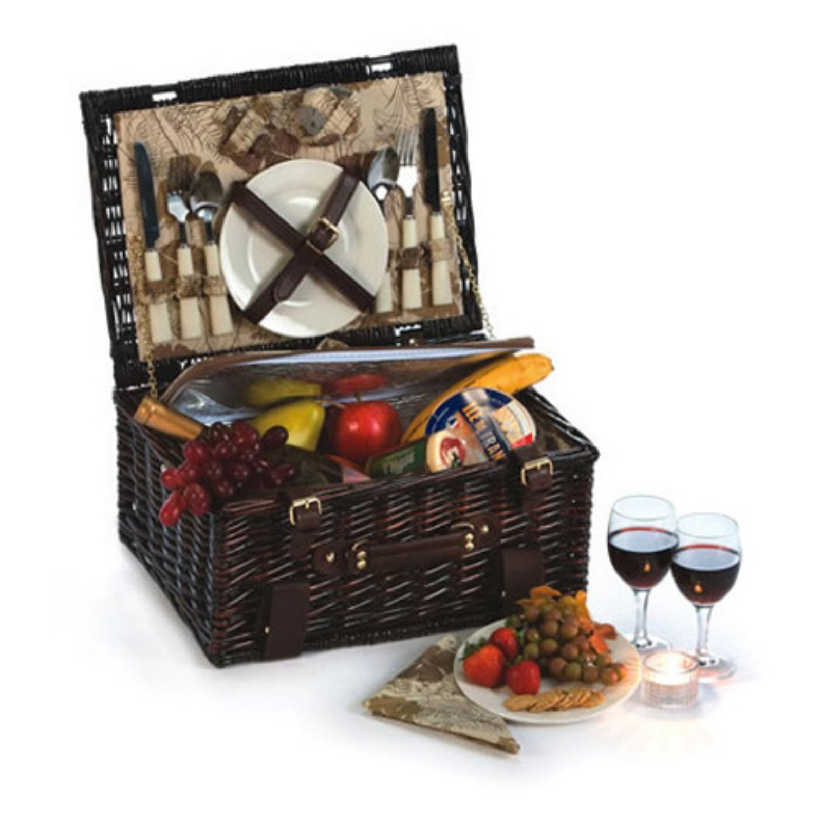 Picnic Plus Copley 2 Person Willow Picnic Basket