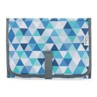 Baby Portable Changing Pad, Diaper Bag, Travel Mat Station, Blue Pattern Compact