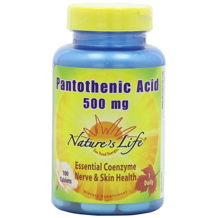Natures Life - Acide pantothénique, tablette (BTL-plastique) 500mg 100CT