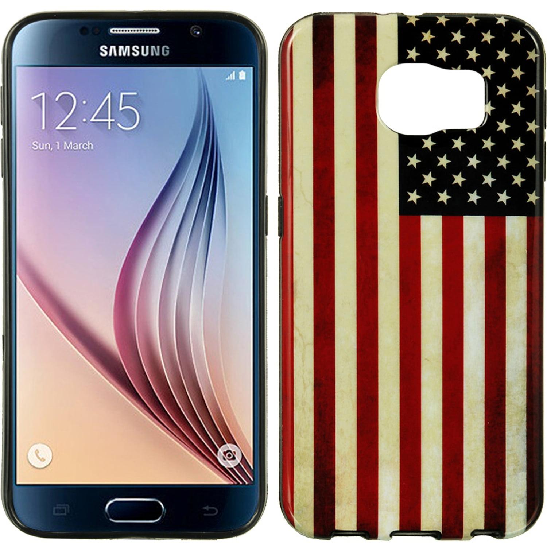 Samsung Galaxy S6 Black TPU Imd Flag United States