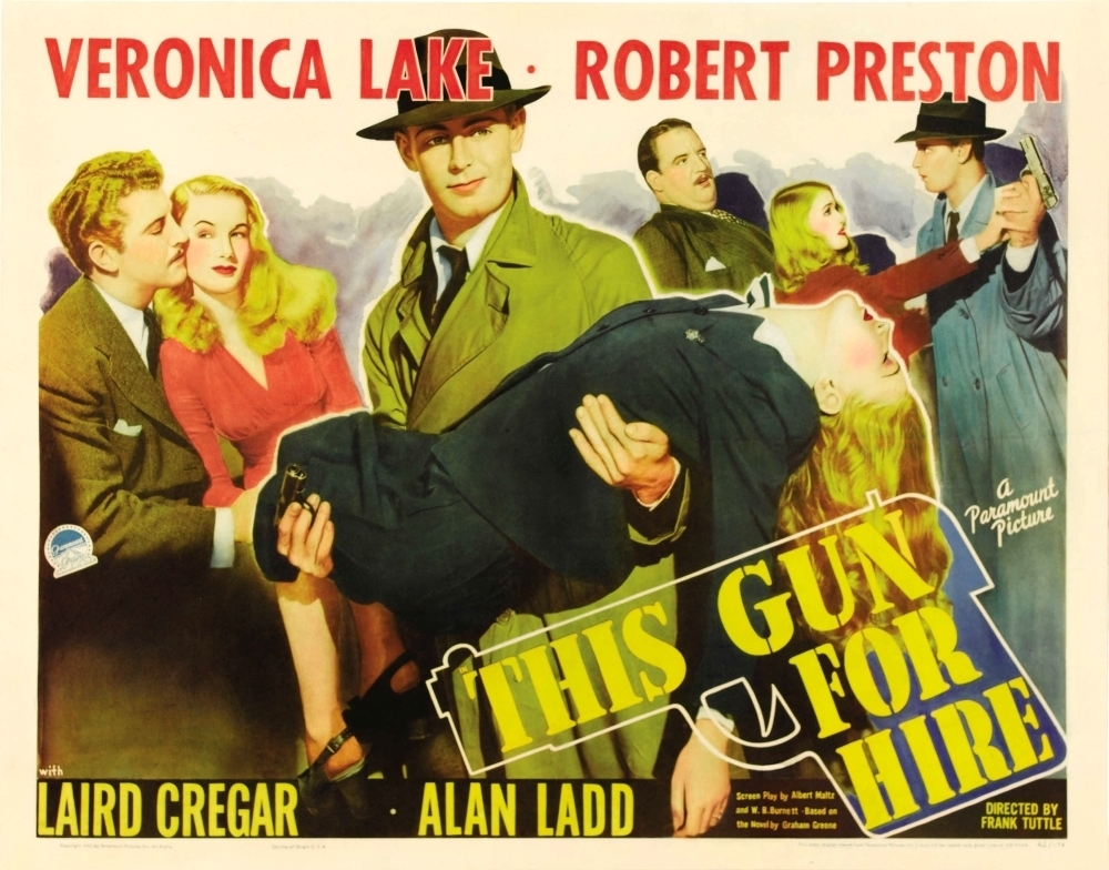 This Gun For Hire Vintage Movie Poster 24x36