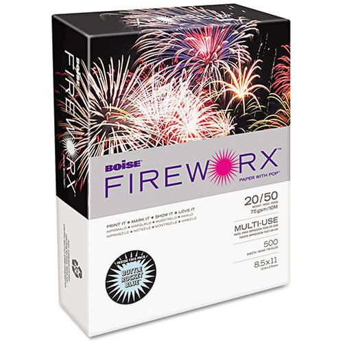 Boise Fireworx Colored Paper, 20lb, 8-1/2 x 11, 500 Sheets/Ream, Available in Multiple Colors