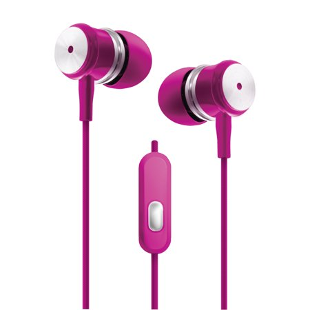 1711c91732dea4 Pink - Chrome Earbuds W/microphone - Walmart.com