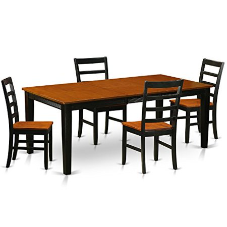 qupf5 bch w 5 pc dining room set dining table with 4 wooden dining