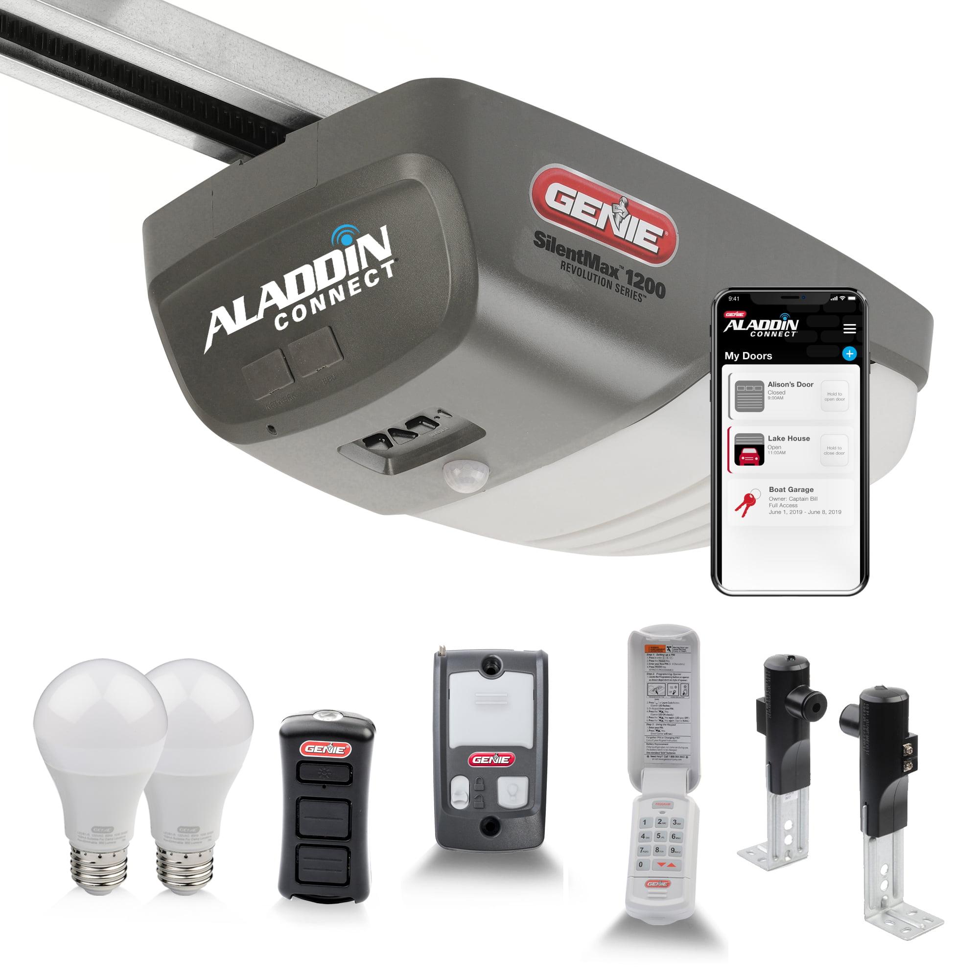 Genie Silentmax 1200 Essentials 3 4 Hpc Belt Drive Garage Door Opener Plus Aladdin Connect Smart Upgrade And Led Bulbs Walmart Com Walmart Com