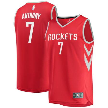 Carmelo Anthony Houston Rockets Fanatics Branded Fast Break Replica Jersey - Icon Edition - Red Carmelo Anthony Syracuse Jersey