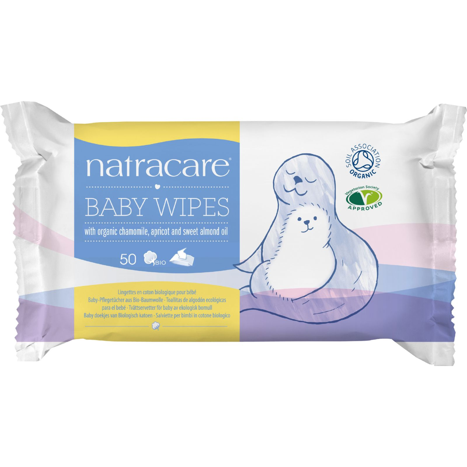 Natracare - Organic Cotton Baby Wipes, 50 count
