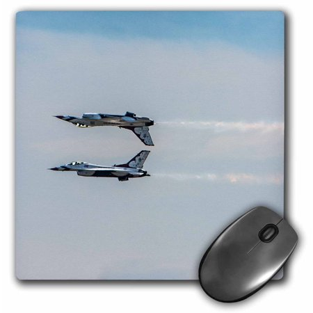 3dRose Two Thunderbird jets mirroring, one upside down - Mouse Pad, 8 by 8-inch - Upside Down Mirror Halloween