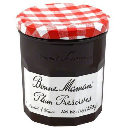 Bonne Maman Plum Preserves, 13 oz, (Pack of 4) by