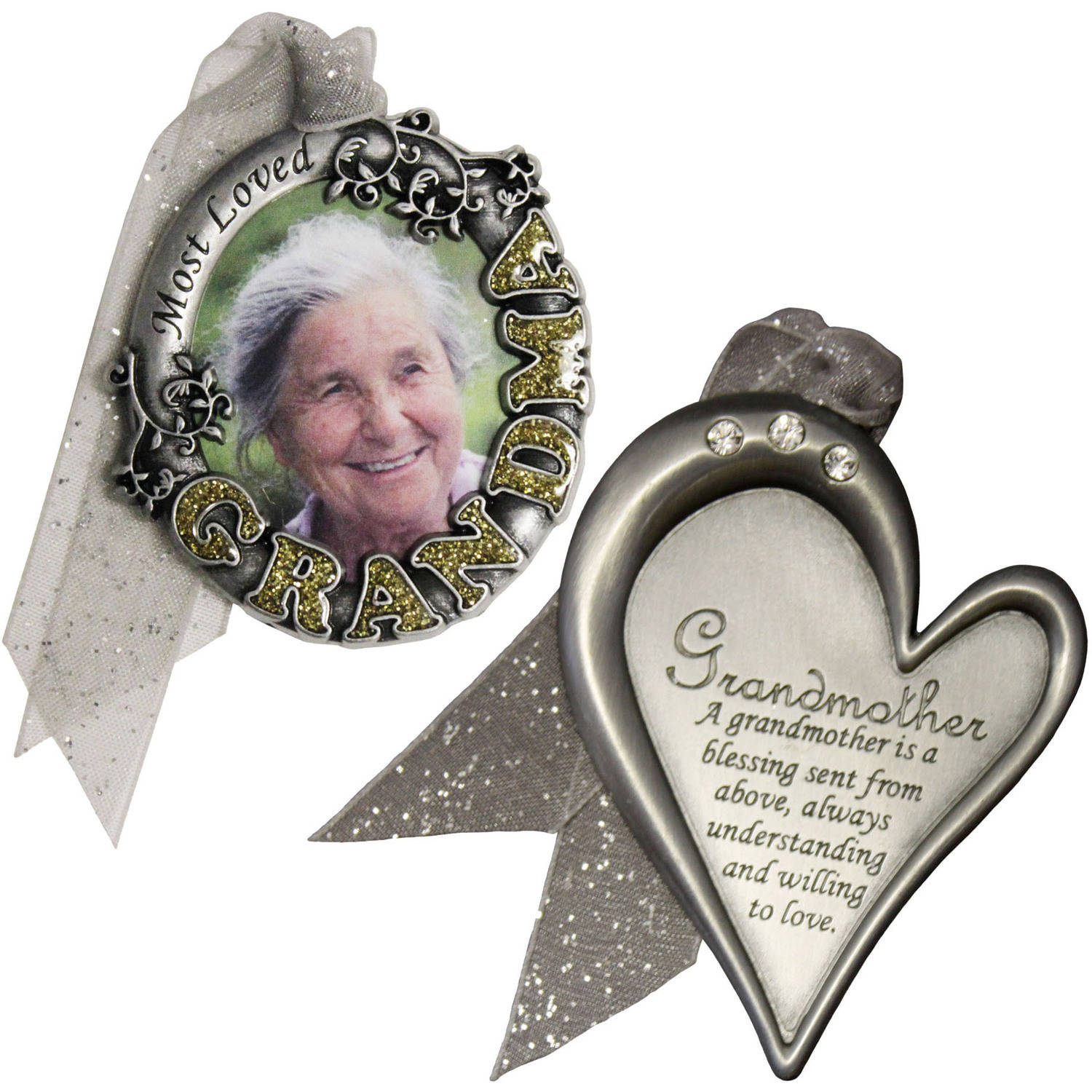 Gloria Duchin Grandmother's Christmas Ornament 2-Piece Set