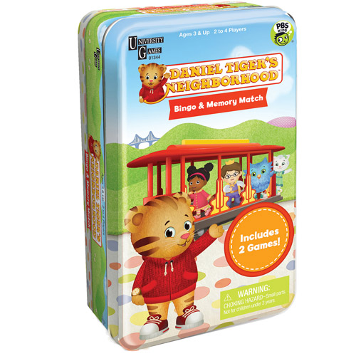 Daniel Tiger's Neighborhood Bingo & Memory Match Tin