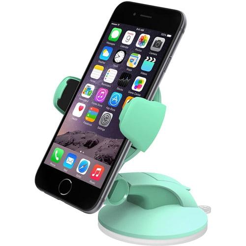 iOttie Easy Flex 3 Car Mount Holder for iPhone 5/5C/5S/6/6S/SE, Galaxy S5/S6/S7, S6/S7Edge, Mint