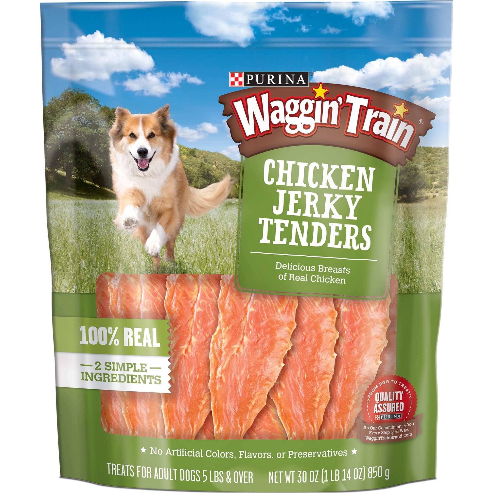 Purina Waggin' Train Chicken Jerky Tender Dog Treats, 30 Oz by Waggin' Train, LLC.