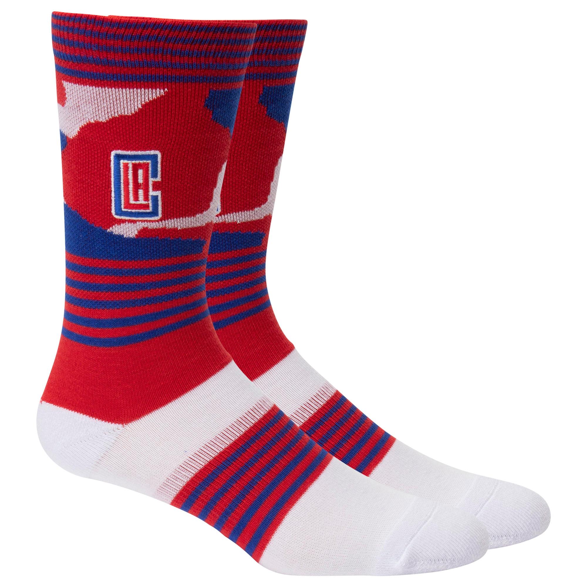 LA Clippers Camo Crew Socks - L
