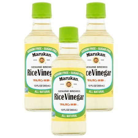 - (3 Pack) Marukan Genuine Brewed Rice Vinegar, 12 fl oz