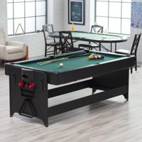 Fat Cat Pockey 7' 2-in-1 Billiards and Air Hockey Game Table