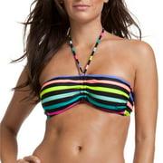 Swim Fun Stripe Bandeau Bikini Top