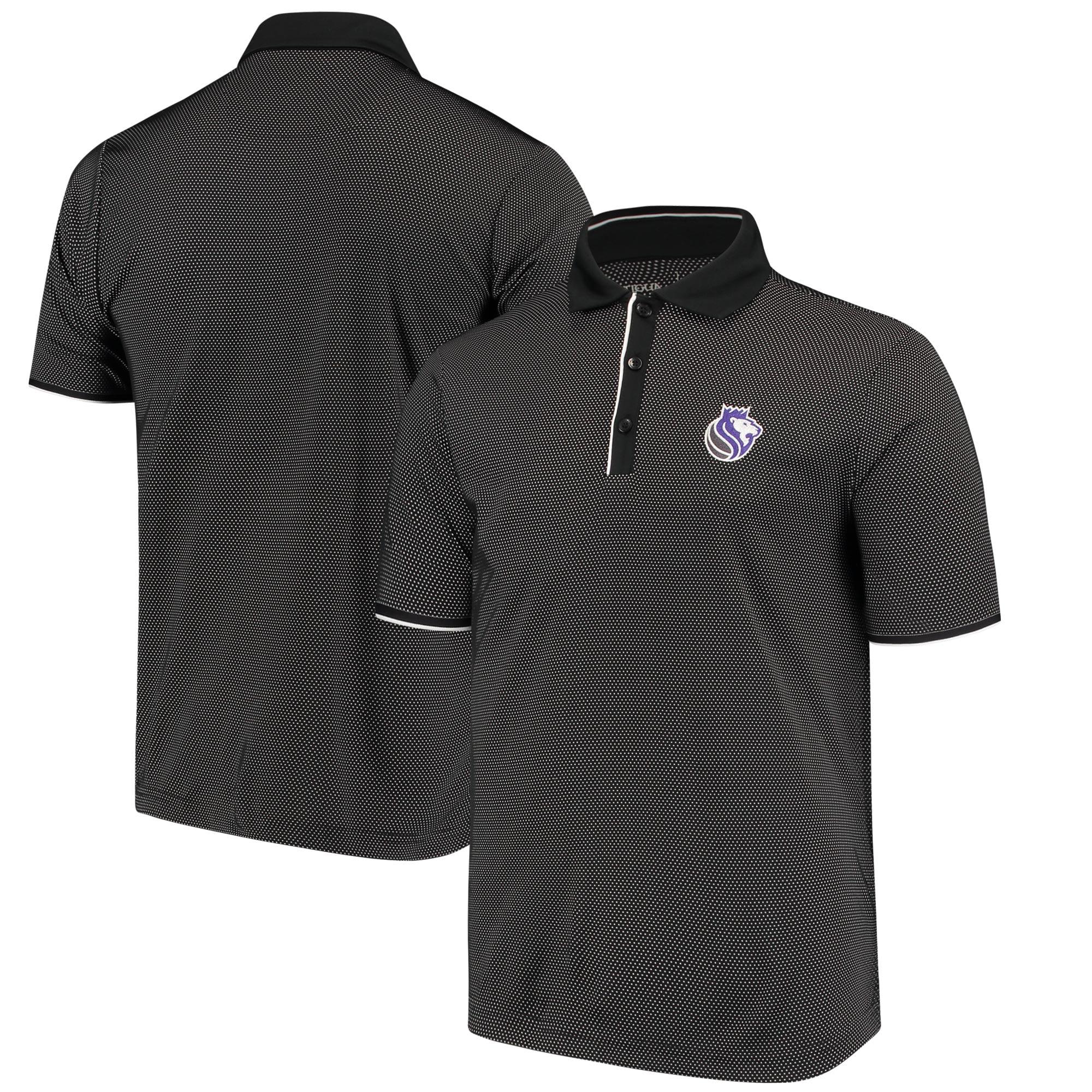 Sacramento Kings Antigua Logo Draft Polo - Black/White