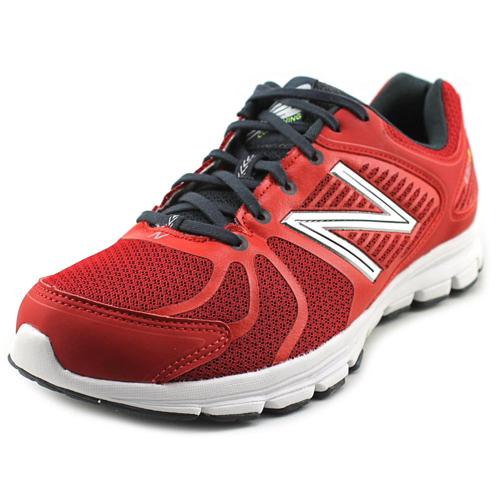 New Balance M690 Men Round Toe Synthetic Red Running Shoe by New Balance