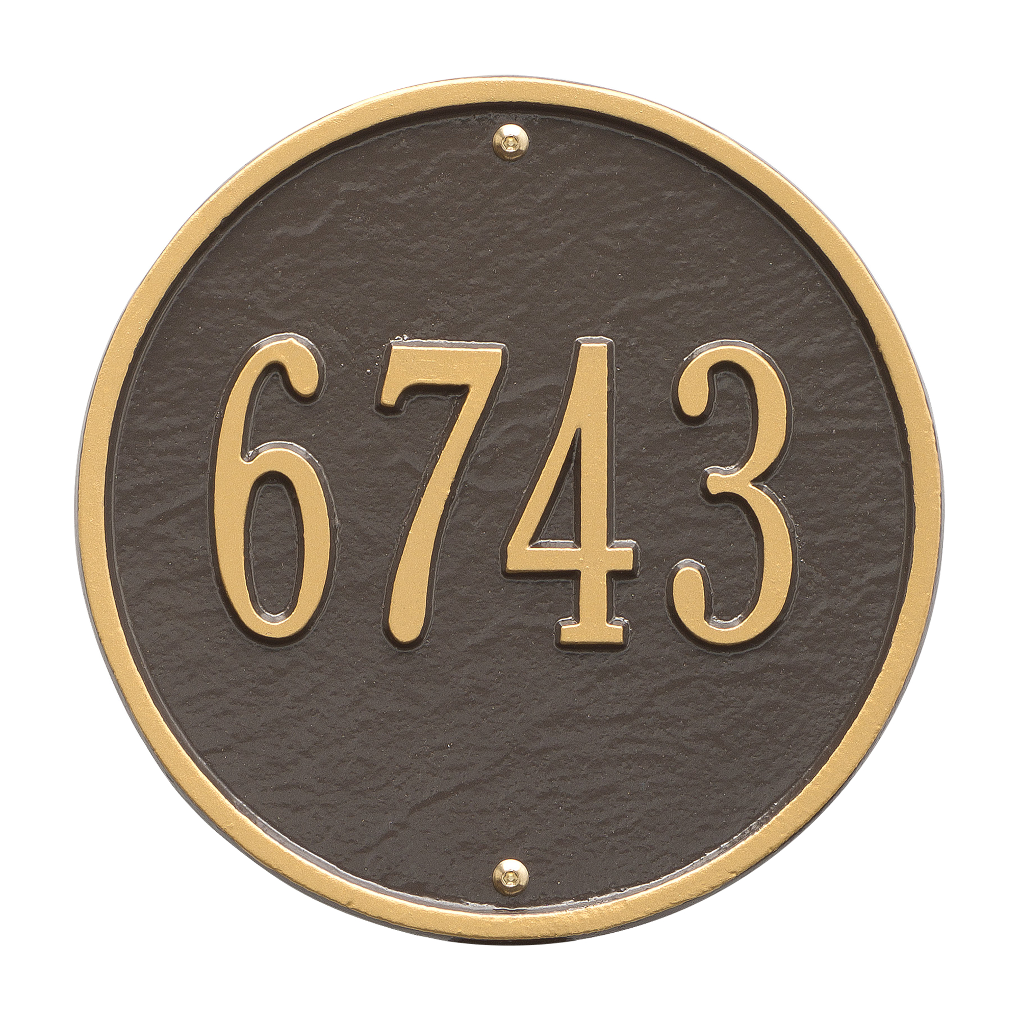 Personalized Whitehall Products 9-Inch Standard One Line Round Wall Address Plaque in... by Address Plaques