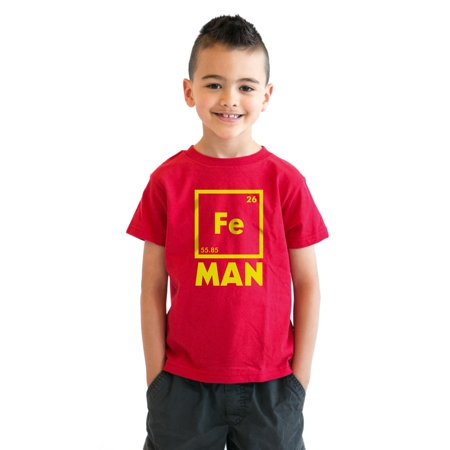 Crazy Dog T-shirts Youth Iron Man Science T shirt Cool Shirts Novelty Kids Funny T shirt Graphic Design](Iron Man Clothes For Kids)