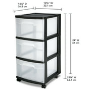 Sterilite Large Tall Modular Drawers White Available In Case Of 3 Or Single Unit