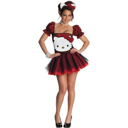 Hello Kitty Red Adult Halloween Costume - Hello Kitty Halloween Costume Plus Size