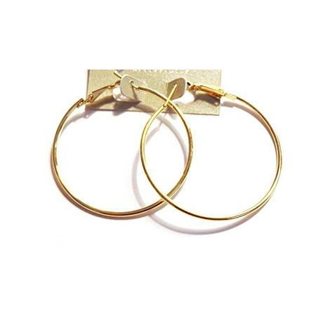 Thin Gold Hoop Earrings Classic 2 inch Hoop Earrings 2 Gold Hoop Earrings