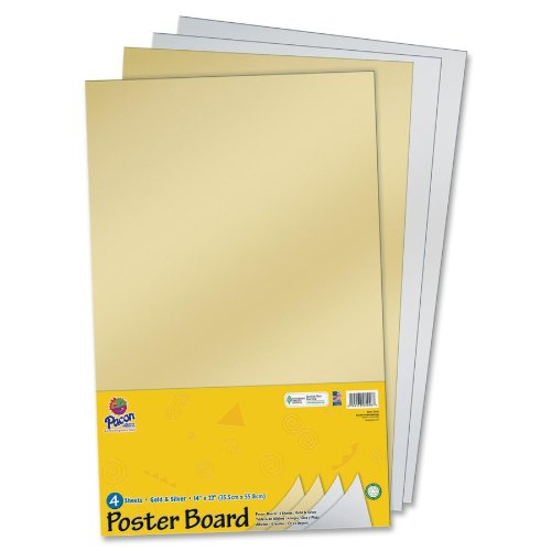 pacon halfsize sheet poster board 14quot x 22quot gold