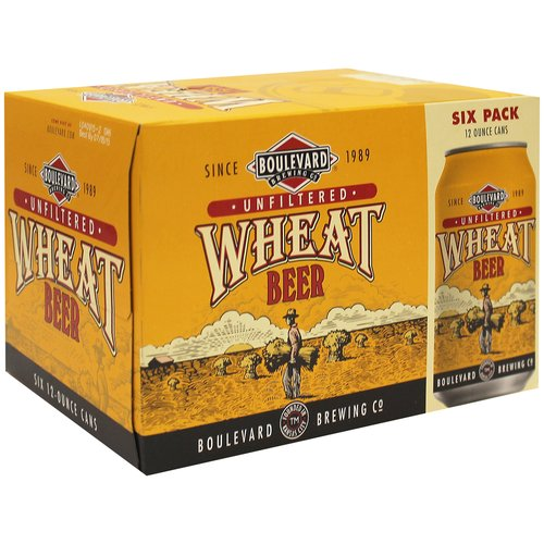 Boulevard Brewing Unfiltered Wheat Beer, 6 pack, 12 fl oz