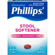 (2 pack) Phillips' Stool Softener Laxative Liquid Gels, 60 Count
